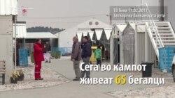 """Жителите во кампот """"Винојуг"""" не сакаат назад"""