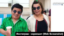 Обид Асомов с народной артисткой Узбекистана Юлдуз Усмановой.