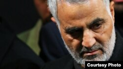 Iranian major general and the commander of Revolutionary Guard's Quds Force, Qassem Soleimani, undated.