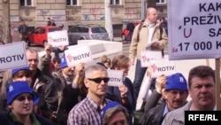 Prosvjedi pred HDZ-om, Foto: Enis Zebić