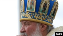 Russian Orthodox Patriarch Kirill on a recent visit to Ukraine