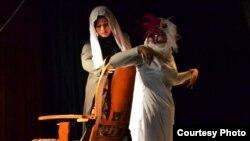 مشهد من مسرحية حداد الليالي - البصرة