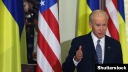 Джо Байден во время одного из визитов в Украину в качестве вице-президента США. Киев, 7 декабря 2015 года
