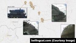 Քարտեզ և լուսանկարներ Bellingcat վերլուծական կենտրոնի հրապարակած զեկույցից