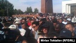 Protesta e sotme në Bishkek