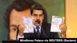 Personal documents are shown by Venezuela's President Nicolas Maduro, May 6, 2020