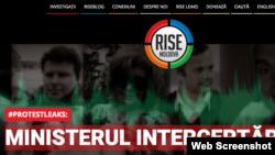 Detali de pe pagina principală a anchetei RISE Moldova
