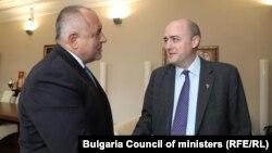 Бойко Борисов и Джейми Флай по време на срещата им в Министерския съвет