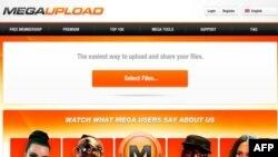 Pagină Megaupload înaintea blocării site-ului de autoritățile judiciare