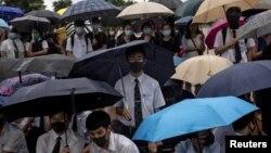 Ученики бойкотируют занятия в школе. Гонконг, 2 сентября 2019 г.