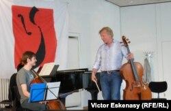 Cu Octavian Lup la un masterclass la Kronberg Academy în 2012