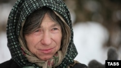 Таежная отшельница Агафья Лыкова. Хакасия (Россия), 21 января 2014 года.