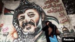 Графіты з партрэтам Арафата