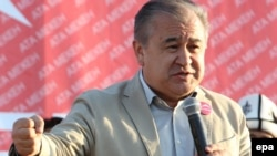 Ata-Meken party leader Omurbek Tekebaev is running for president.