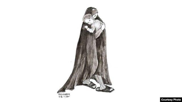 منبع طرح: کتاب «یادنگارههای زندان» اثر سودابه اردوان زندانی سیاسی دهه ۶۰