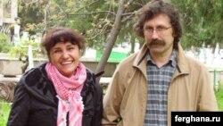 Кинорежиссёр Олег Карпов ва рафиқаси Умида Аҳмедова.