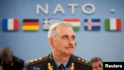 Belgium -- Ukrainian Acting Defense Minister Mykhaylo Koval attends a meeting at North Atlantic Council (NATO) in Brussels, June 3, 2014
