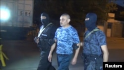 Armenia - Gunmen surrender in Yerevan after holding police station for two weeks, 31Aug2016.