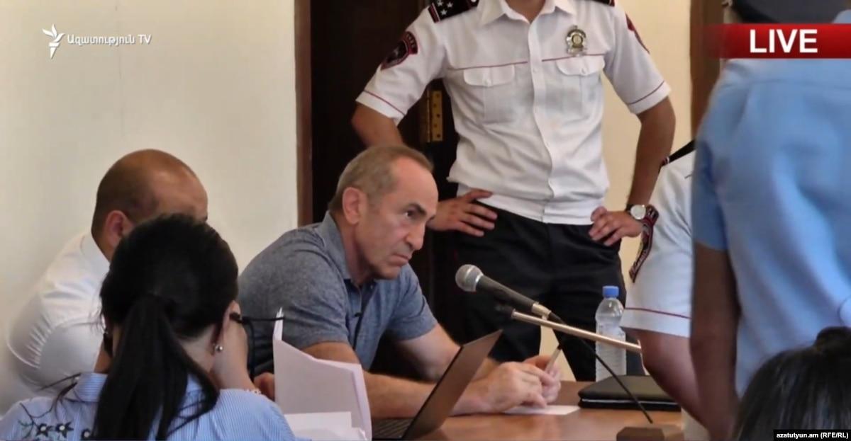 Armenian Court Seeks ECHR 'Advisory Opinion' Over Coup Case Against Ex-President Kocharian