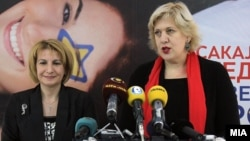 Вицепремиерката Теута Арифи и преставничката на ОБСЕ за медиуми, Дуња Мијатовиќ