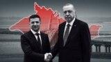 Владимир Зеленский и Реджеп Тайип Эрдоган на фоне карты Крыма. Коллаж