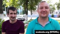 Гастарбайтары зь Лельчыцаў Руслан Грэська і Аляксандар Буцько, архіўнае фота