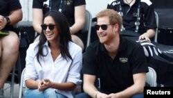 Принц Гарри и Меган Маркл, Торонто, 25 сентября 2017 года.