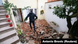 Az első fotók Horvátországból az újabb, keddi földrengés után