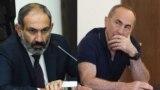 Премьер-министр Армении Никол Пашинян (слева) и экс-президент Армении Роберт Кочарян