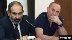 Armenia -- Prime Minister Nikol Pashinian and formen President Robert Kocharian.
