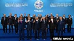Şanhaý Hyzmatdaşlyk Guramasyna agza ýurtlaryň liderleri.