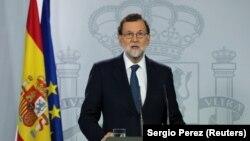 Mariano Rajoy u izjavi za javnost nakon sjednice vlade, 11. oktobar 2017.