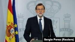Ispaniýanyň premýer-ministri Mariano Rahoý. 11-nji oktýabr, 2017 ý.
