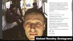 Пост Олексія Навального в Instagram після затримання