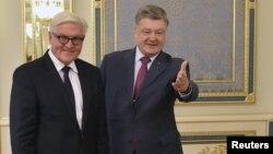 Франк-Вальтер Штайнмаєр та Петро Порошенко, фото архівне