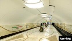 """Одна из новых станций Бакинского метрополитена - """"Дарнагюль"""", 2011"""