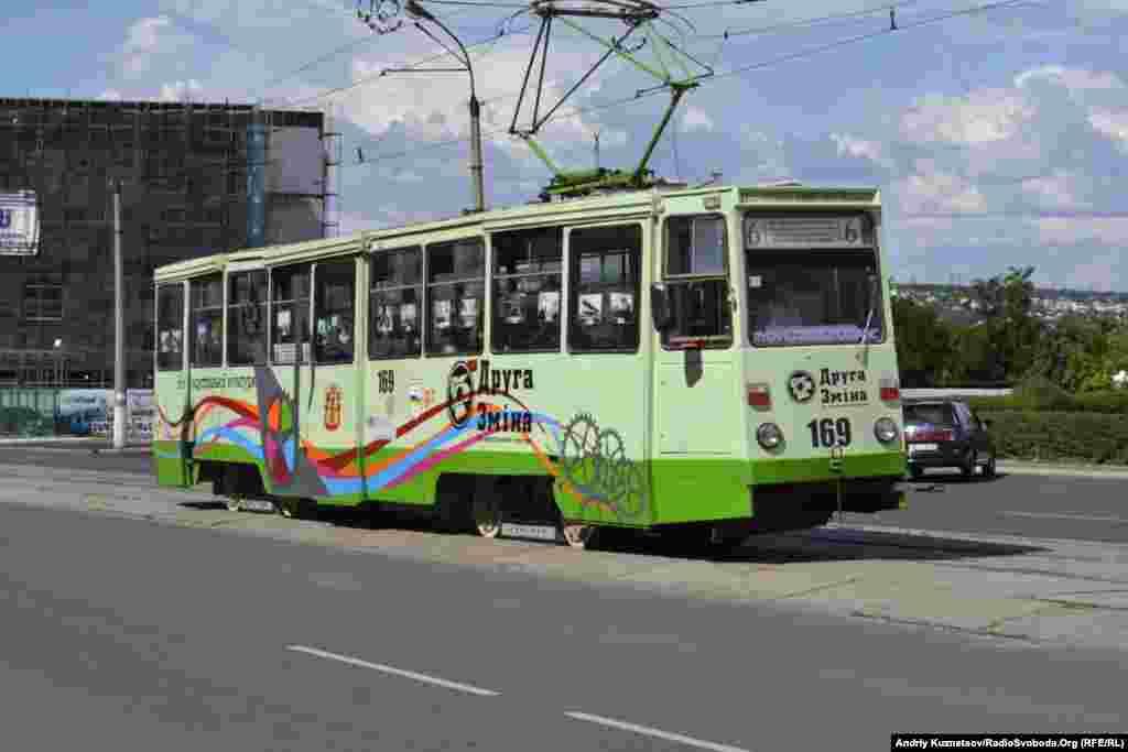 У спеціальному екскурсійному трамваї знайомили з історією індустріального розвитку Луганська, а також Донецька, Німеччини і Польщі
