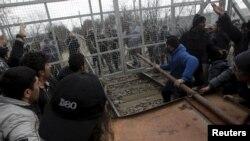 Izbeglice na grčko-makedonskoj granici