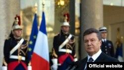 Віктор Янукович під час офіційного візит до Франції, Париж, 7 жовтня 2010 року