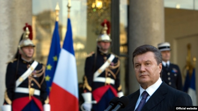 Ukrainian President Viktor Yanukovych during an official visit to Paris in early October