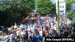 Մոլդովա - Հուլիսի 30-ի բողոքի ցույցը Քիշնևում