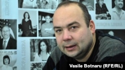 Cornel Ciurea, în studioul Europei Libere la Chișinău