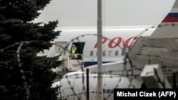 Ил-96 в Праге для вывоза российских дипломатов. 19 апреля 2021 года.