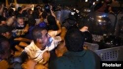 Yerevanda toqquşmalar