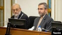 علی باقری، معاون امور بینالملل قوه قضائیه ایران (سمت راست)