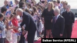 Then-Vice President Joe Biden visits Pristina in May 2009.