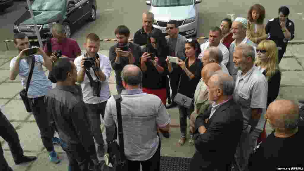 Журналист Николай Семена после оглашения приговора