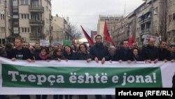 Pamje nga protestat në Prishtinë (foto arkivi)