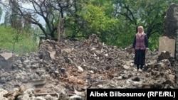 Один из разрушенных домов в селе Кок-Терек. 7 мая 2021 года.