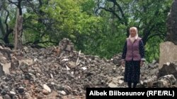 Кыргыз-тажик чек арасындагы Көк-Терек айылы. Баткен району. 7-май, 2021-жыл.